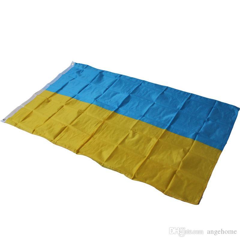 90 х 150 см Флаг Украины Большой Баннер - 3FT X 5FT Висячие Украинские Флаги Активность Фестиваль Главная Outdood Yard Decor