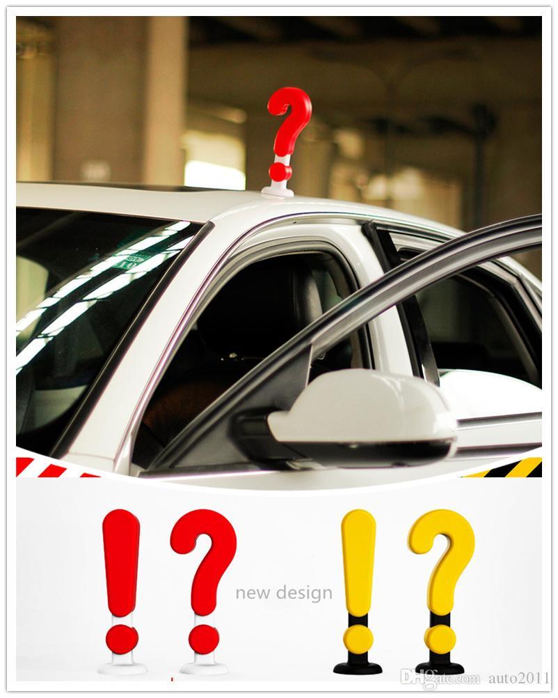 20*6 cm Car Styling Cute Creative Symbol Signal Sticker Universal yellow red 1 pc drop ship