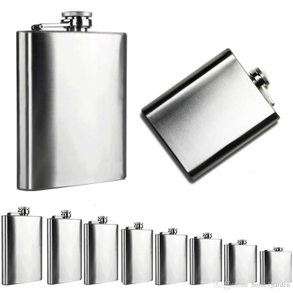 Taşınabilir Cep Şişesi Paslanmaz Çelik Cep Alkol Viski Likör Vida Cap Erkekler Hediye Açık Drinkware 6 Boyutu 4 oz