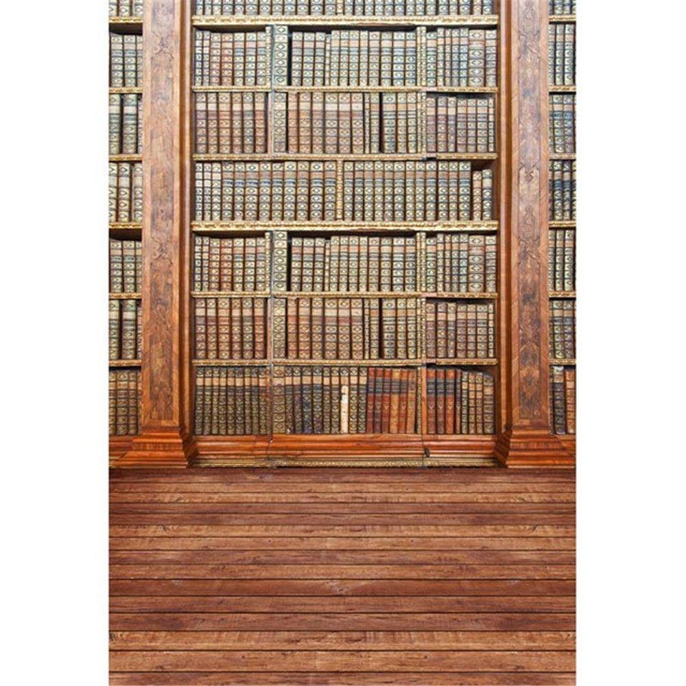 Graduation Season School Bookshelf Vinyl Fondali per Fotografia Vintage Libri Bambini Bambini Retro Foto Studio Sfondi Pavimenti in legno