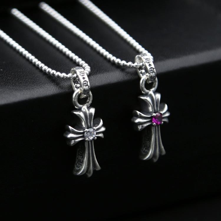 Marka 925 ayar gümüş takı antika gümüş kadınlar ücretsiz gönderim Amerikan tasarımcı çapraz kolye kolye 2 renk el yapımı