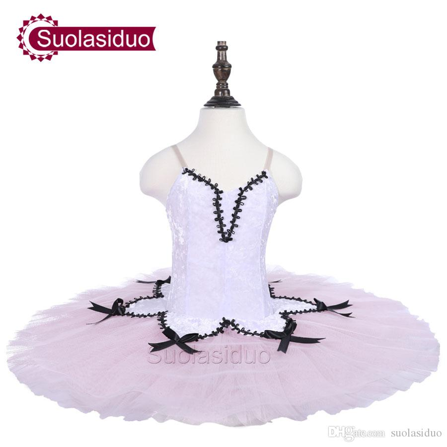 Children White Ballet Tutu The Nutcraker Stage Performance Costumes Girls Pink Classical Ballet Dance Apperal Kids Ballet Skirt