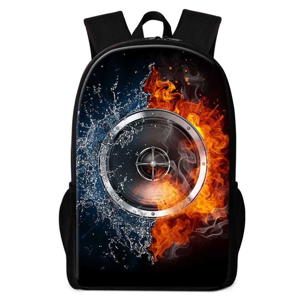 Fashionable Music Printing Backpacks For College Adults Man Woman School Bookbags Oxford Casual Daypack Middle Schooler Backpack 16 Inch