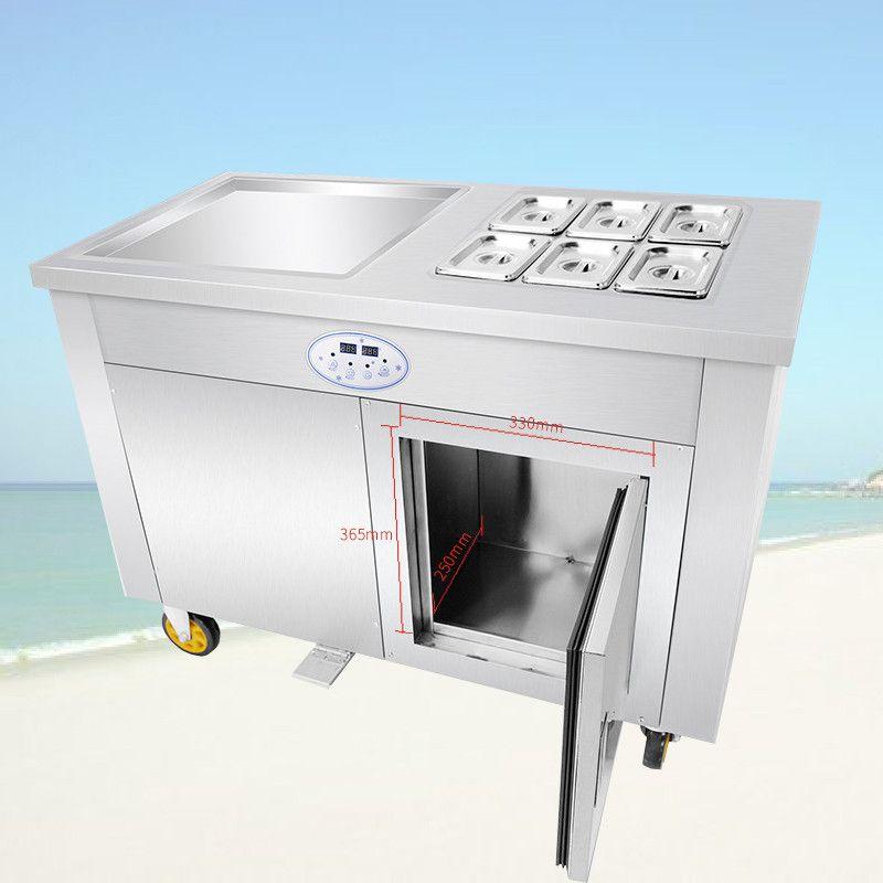 BEIJAMEI оптовой цене коммерческий Жареное мороженое машина лед Пан машина крена 110В 220В жареные йогурт мороженое ролл машина