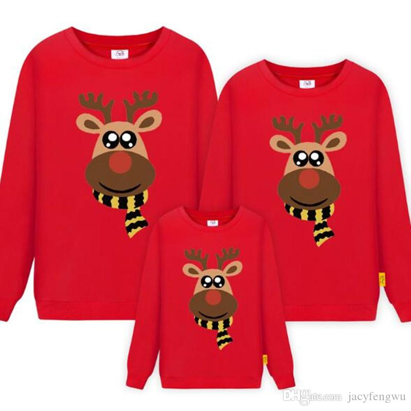 Christmas Mother and Daughter Clothes Family Matching Cotton Clothes Dress Boys girls Sweater women dress ladies men Outfit QZZW112