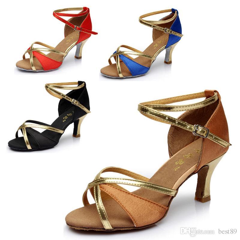 Tanzschuhe Latin Tango Frauen Für Mädchen Ballsaal indoor Schuhe Rabatt Marke Schuhe Ferse Höhe 7 cm 805