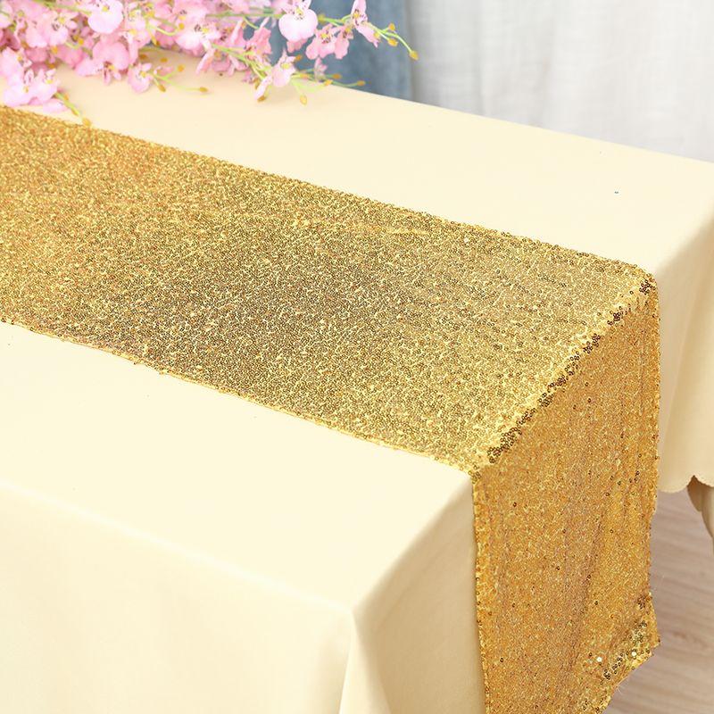 Corredor de mesa de lantejoulas para casamento festa de casamento corredor de mesa decoração de natal decoração de ouro chemin de