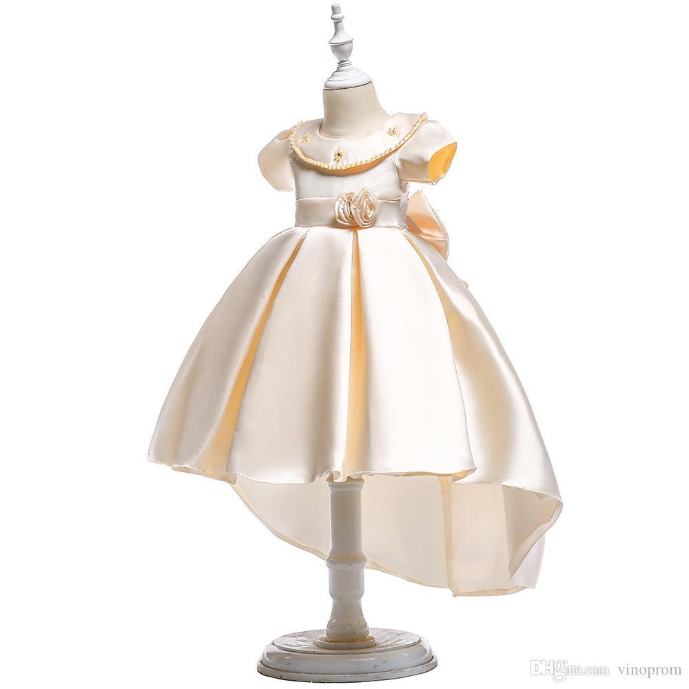 Abito da ballo formale Abiti da cerimonia per bambina con fiori Abiti da spettacolo principessa solubile in acqua Abito da cerimonia nuziale maxi in tulle
