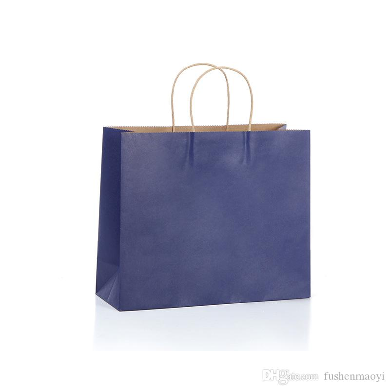 """100 Pcs Kraft Paper Shopping Shopping Merchandise Party Gift Bags 12 """"x4"""" x10 """"con maniglie in corda"""