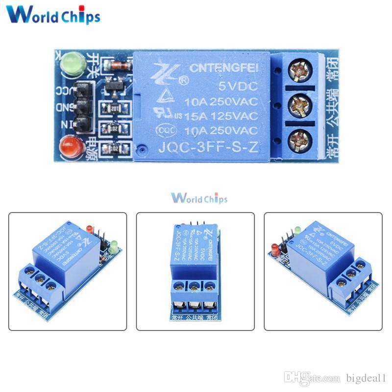 5V Low Level One 1 Relay Module DC AC 220V Board Shield LED for Arduino Free Shipping