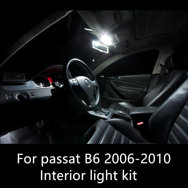 Shinman 11pcs Hata Ücretsiz Lambası Oto LED Ampul Araç İç Işık Kiti İçin İçin VW Passat B6 aksesuarları 2005-2011