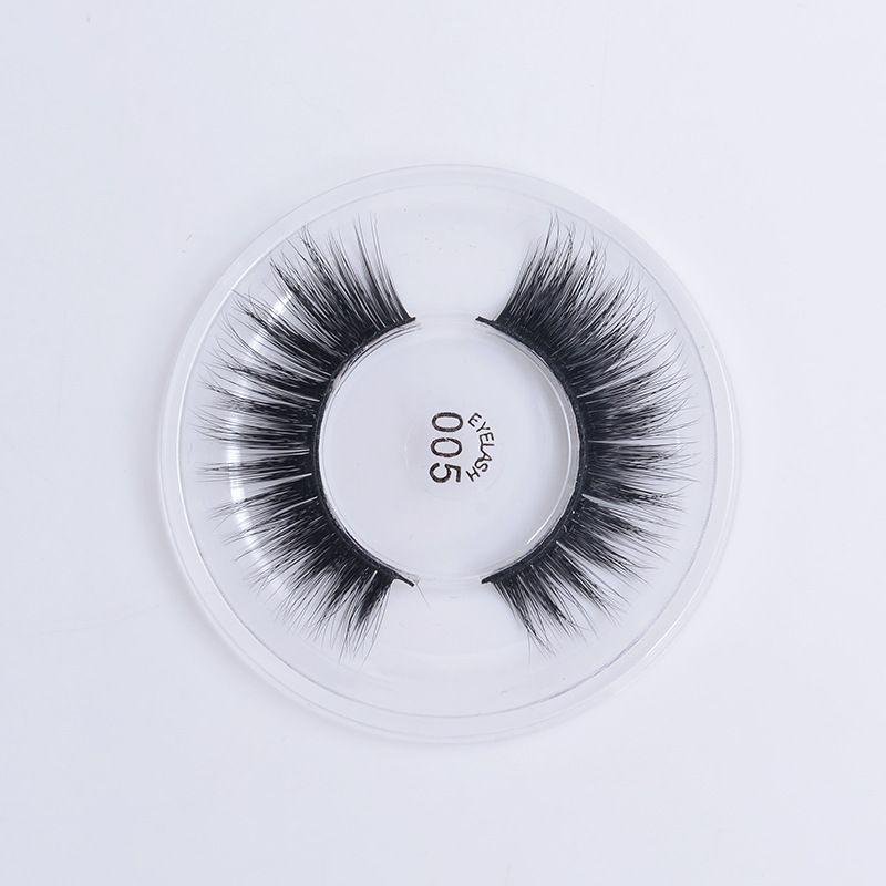 3D Silk false eyelashes natural long lasting thick lashes natural dramatic volume eyelashes extension 005