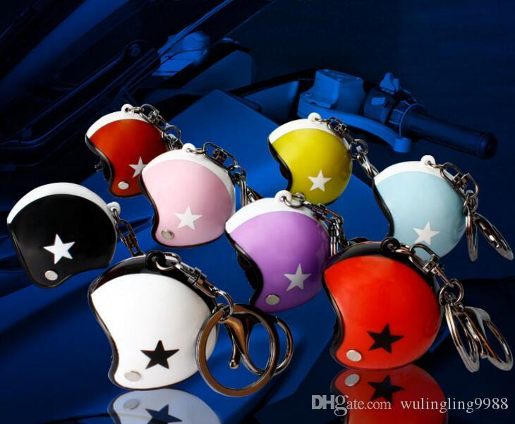 3d سباق الدراجات النارية خوذة المفاتيح حلقة رئيسية موتو اكسسوارات تعزيز هدية حلقة تسلق المفاتيح فارس خوذة السلامة 10 ألوان
