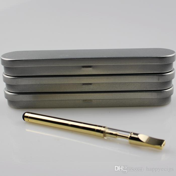 Golden glass cartridge CE3 bud touch Battery Box Kit Glass Atomizer 280mAh battery O pen Vape tank vaporizer metal case kit e cigs