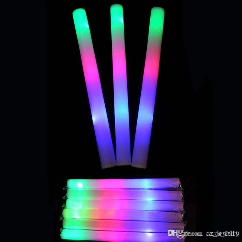 LED Licht Sticks Neue Schaumstoff Requisiten Konzert Party Flashing Leuchtstäbe Holloween Christams Festival Kinder Spielzeug Geschenke