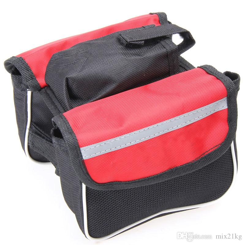 MTB Bicycle Bags Road Bike Frame Front Tube Panniers Double Pouch Cycling Bag Case Bike Accessories