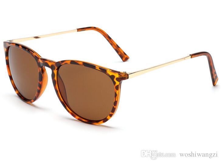 New Fashion Sunglasses For Man Woman Erika Eyewear Designer Brand Sun Glasses Matt Leopard Gradient UV400 Lenses Box and Cases