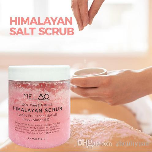 ملح حمام الهيمالايا ، تدليك للجسم ، كريم تنظيف مقشر يغذي الرطوبة وتبييض الجلد