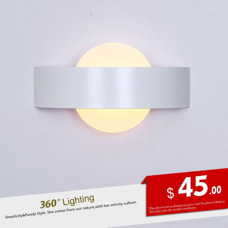 Led wall lamp bedroom bedside acrylic wall lamp hotel engineering lamp simple modern creative balcony bedroom bedside lighting