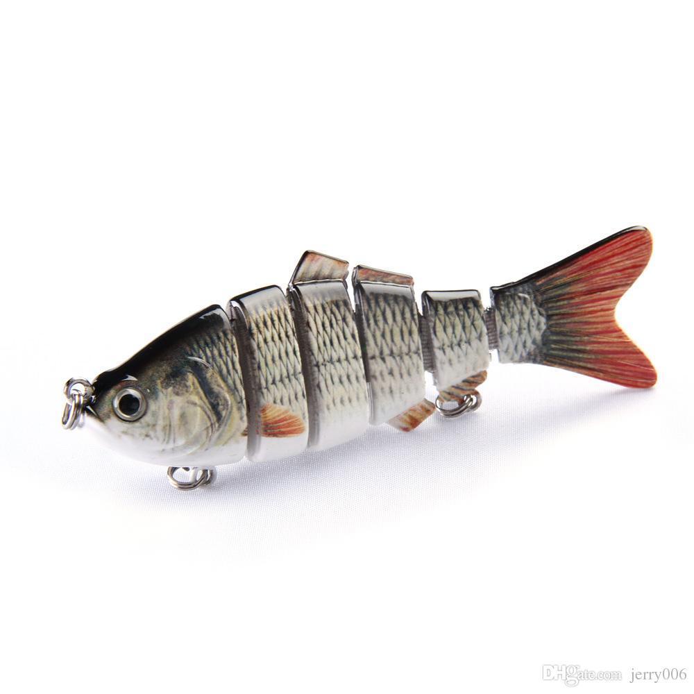 10 سنتيمتر 20 جرام الصيد السحر 3d عيون 6 أقسام صوتها السحر crankbait الصلب بيت السمك هوك الرقصة الكارب pesca صيد السمك