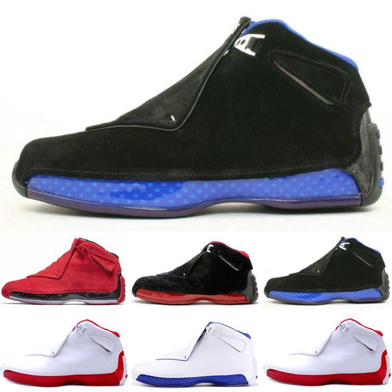 Hot Nuova 18 18s Mens scarpe da basket Toro Olimpiadi ASG Nero Bianco Rosso Bred Royal Blue Sport Sneakers formatori donne all'aperto