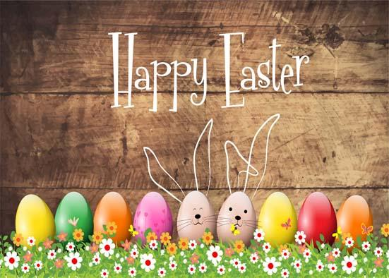7x5ft Vinyl Digital Easter Eggs Flowers Decoration Kids Children Happy Easter Backdrop Photography Props Studio Background