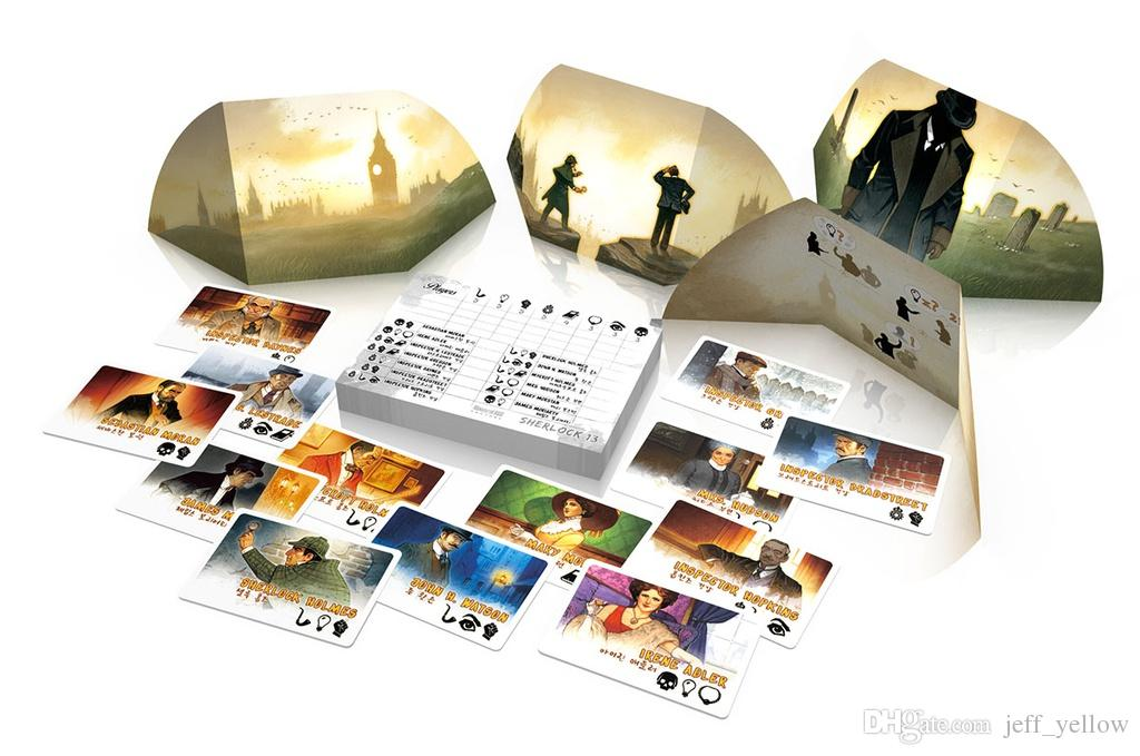 Free shipping Sherlock Holmes 13 Classic detective novel Chinese Version Reasoning to solve the case Board games Genuine