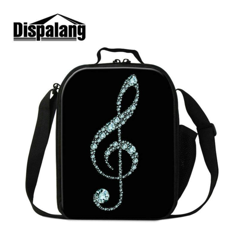 3D Musical Note Printing Lunch Bag For Children Thermal Insulated Lunch Bags For School Kids Meal Package Picnic Food Lunch Box For Students