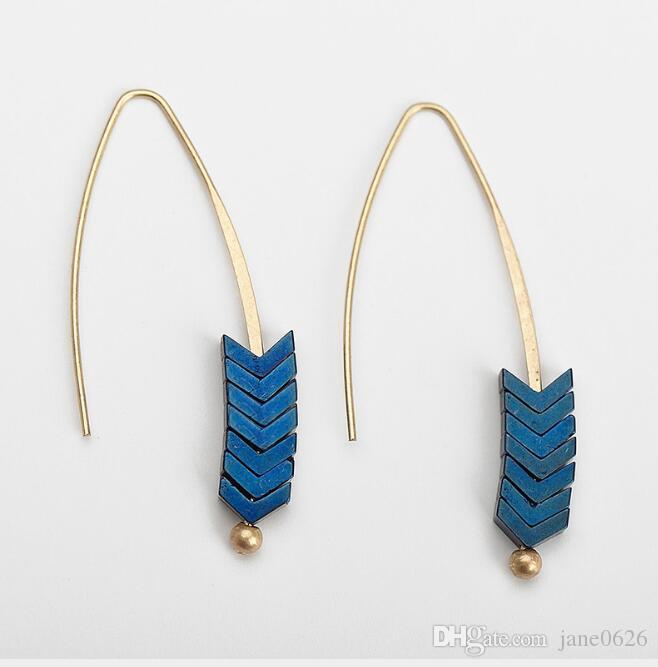 Original Design Arrow Earthen Earrings European and American Earrings Boho Bohemian Long Tassel Fringe Dangle Earrings