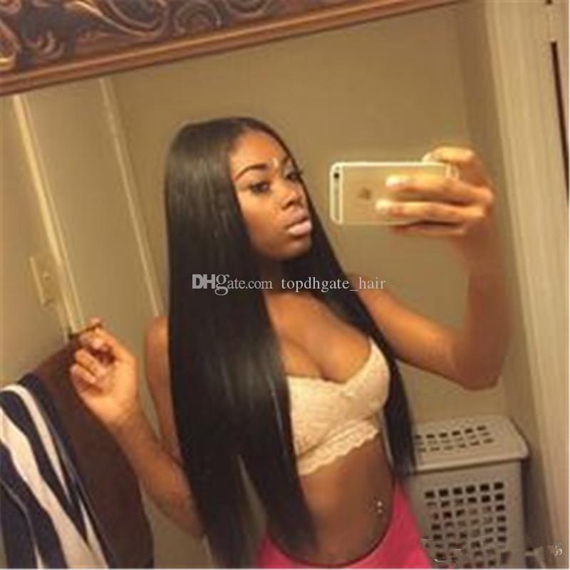 Top selling lace frontal Wig and full lace unprocessed human hair wig for black women Customized Free Shipping