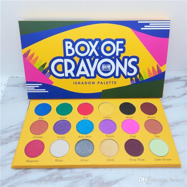 Caixa de lápis de cor sombra paleta de maquiagem ishadow 18 cor crayola sombra de olho o caso crayon Shimmer fosco sombra à prova d 'água