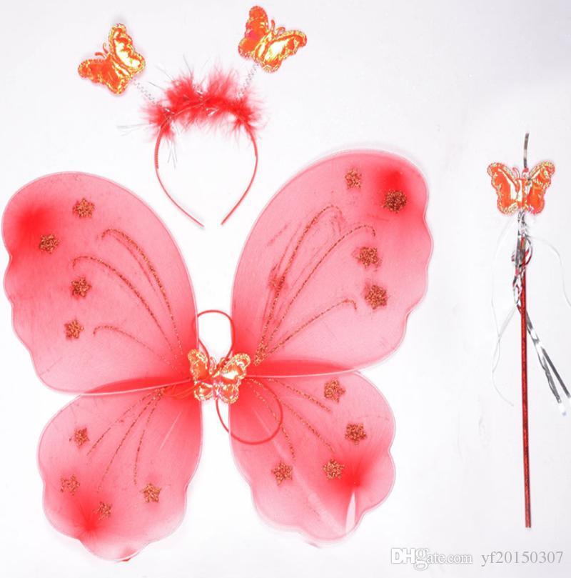 Venda mágica de la varita mágica de las alas de la mariposa de Hallowen para los niños que envían libremente