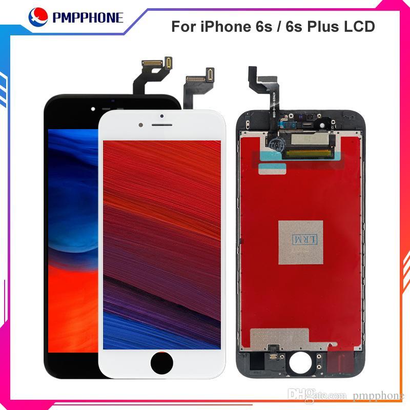 أسود أبيض شاشة LCD تعمل باللمس محول الأرقام الشاشة كاملة مع استبدال الإطار الجمعية كاملة لفون 6S 4.7 6S زائد 5.5 شحن مجاني