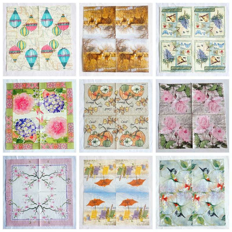20 Papel Fiesta Servilletas aves en Flor Pack de 20 3 capas de lujo Servilletas