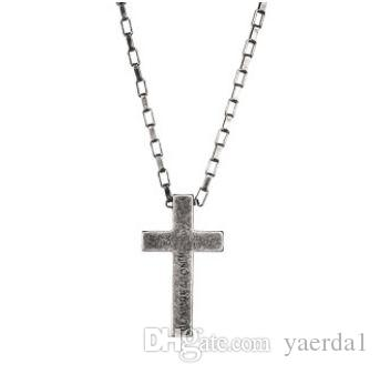 Personality sweater chain trend jewelry titanium steel cross faith power retro silver necklace male and female couple pendant kendra scott