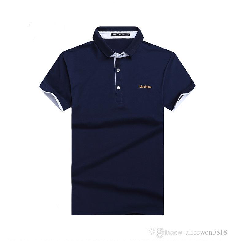 2021 Quality Assurance Mens Polo Shirt Brands Navy Blue Color Polo ...