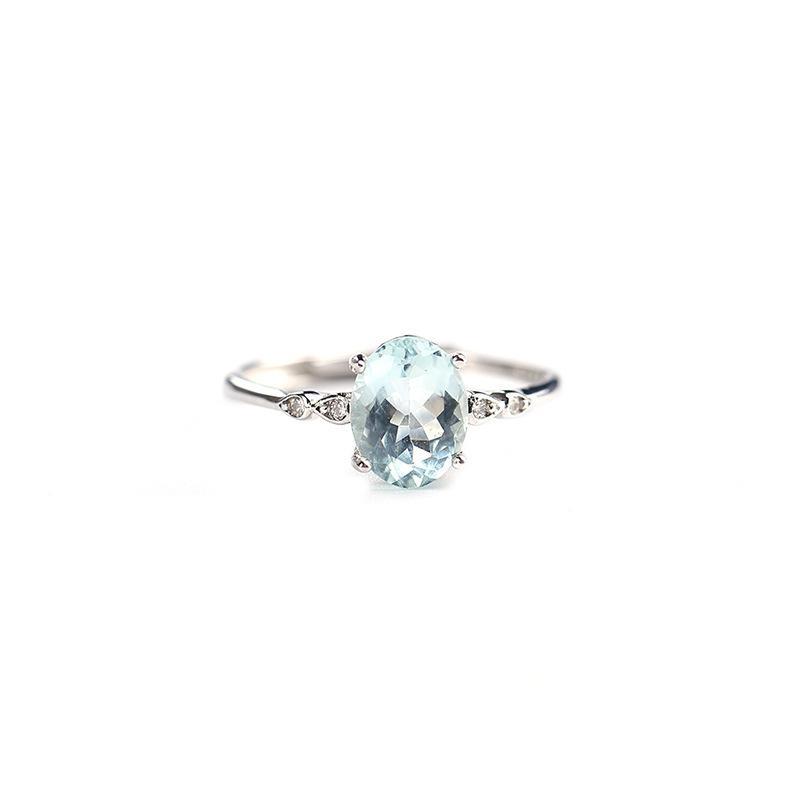 حلقة بسيطة بسيطة لطيف مع الأحجار الكريمة الزبرجد الطبيعي في 925 الفضة الاسترليني المجوهرات الجميلة للفتيات النساء كهدية