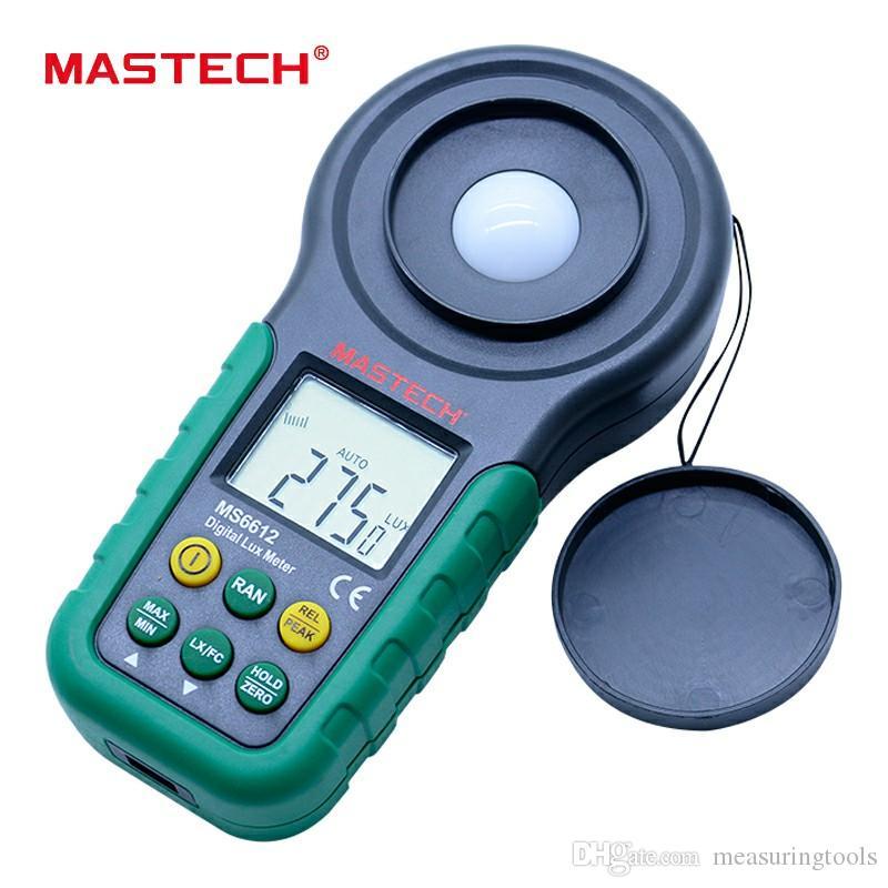 Mastech MS6612 Digital Light Meter 200000 Lux Illuminometer Lux Meter