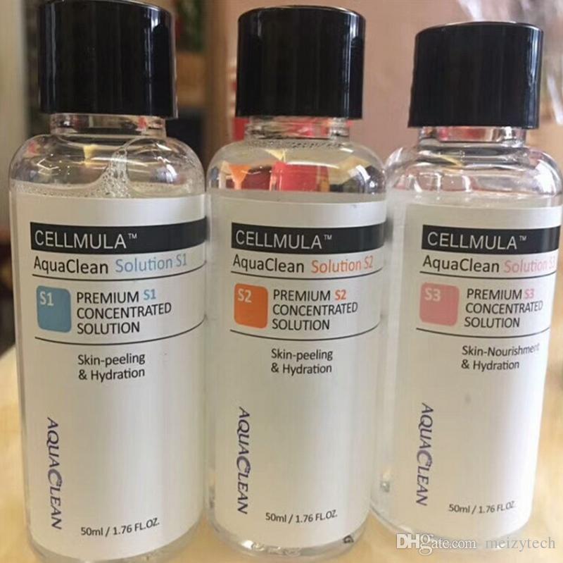 Soluzione Aqua Clean Soluzione concentrata di peeling all'acqua 50 ml per bottiglia Siero viso Hydra Siero viso per la cura della pelle normale Bellezza