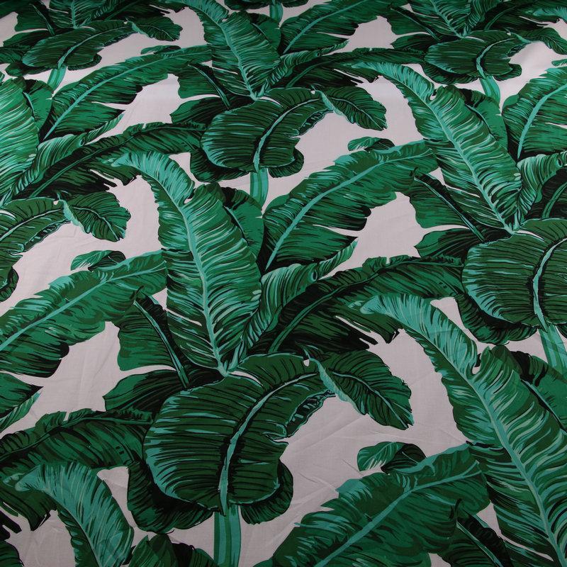 드레스 DIY 봉제, 어린이 시트 패치 워크 tissu을위한 50 * 142cm 그린 팜 바나나 잎 인쇄면 tissu, 100 % 코튼 포플린 패브릭