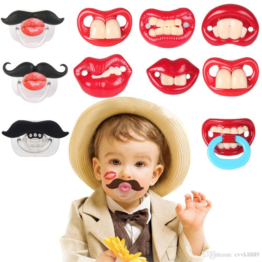 Funny Cute Baby Toddler Infant Silicone Pacifier Dummy Lip Nipple Soother W