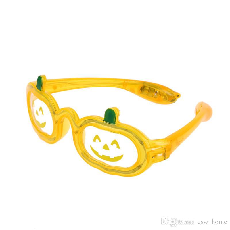 Хэллоуин тыква мигающие солнцезащитные очки из светодиодов Хэллоуин очки партия сувениры украшения поставок тыквы светодиодные очки