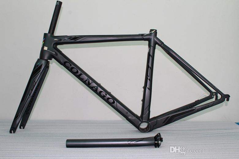 Black logo Colnago C60 Carbon Road bike Frame full carbon fiber bicycle Frame+ Seatpost+ Fork+ Clamp+ Headset C62