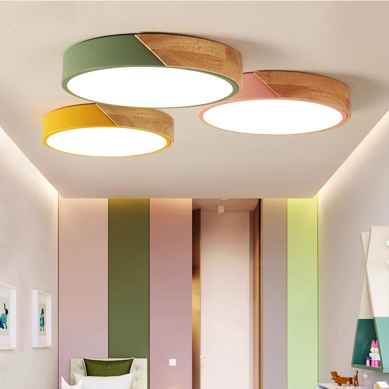 2018 Macaroon led ceiling lights bedroom modern with Color polarizer luminaria lamps child luminaire lampe deco Hallway