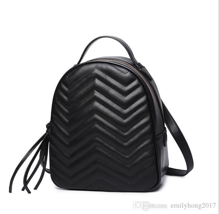 Descuento top fashion mochila classic G mochila femenina PU cuero diseñador bolso de escuela
