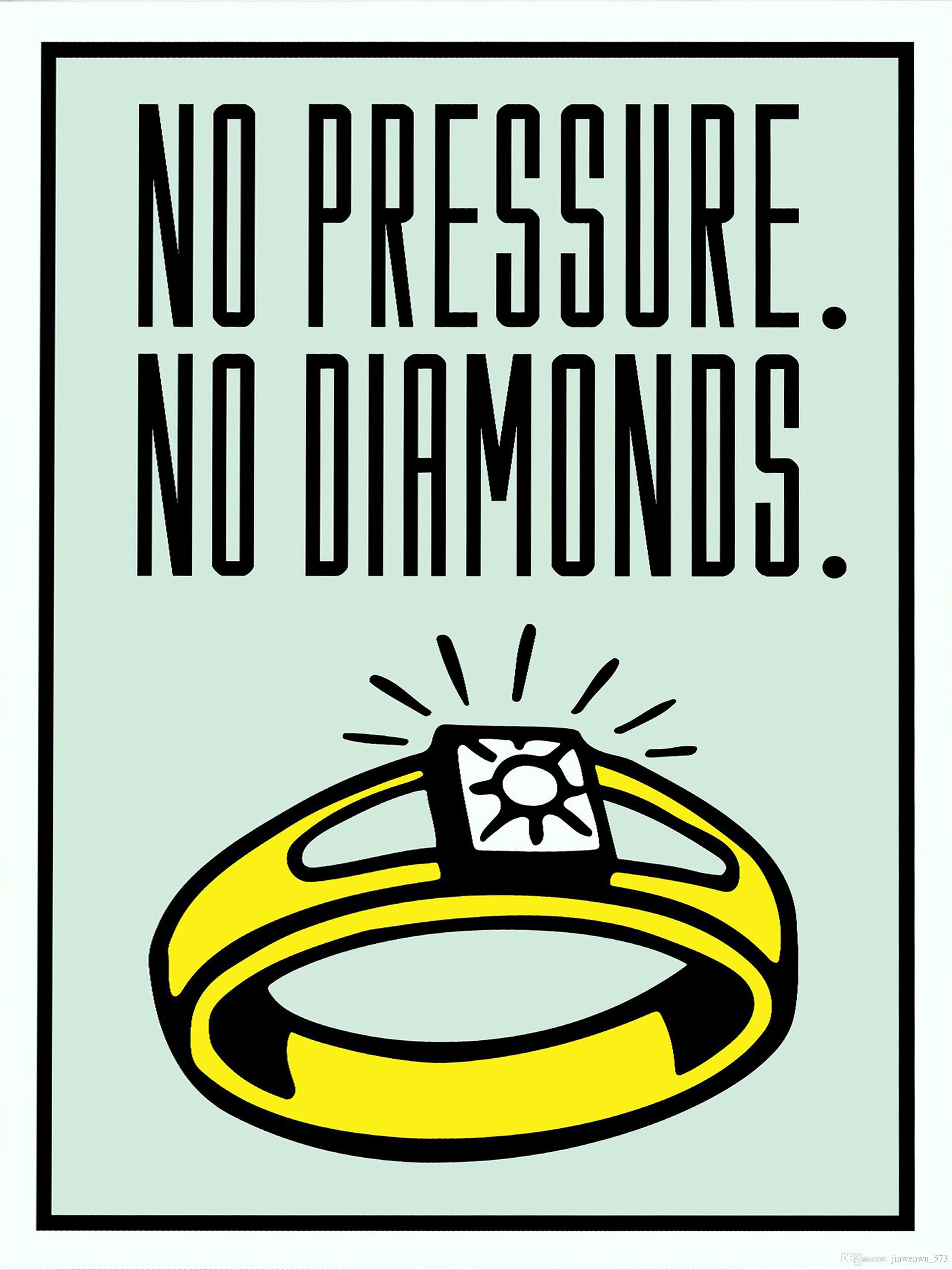"""Unframed / Alec Monopoly """"Sin presión sin diamantes"""", HD Canvas Print arte de la pared pintura de decoración, cultura del arte de la oficina"""