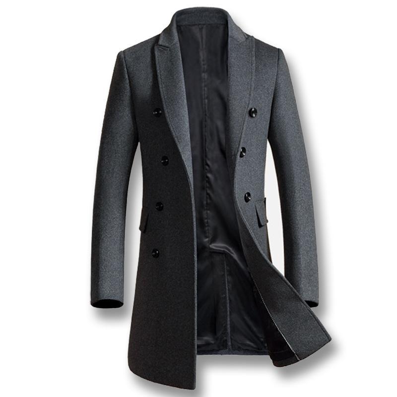 2018 Otoño Nueva trenca abrigos chaqueta de los hombres ocasionales adelgaza Chaquetón Hombre Outwear
