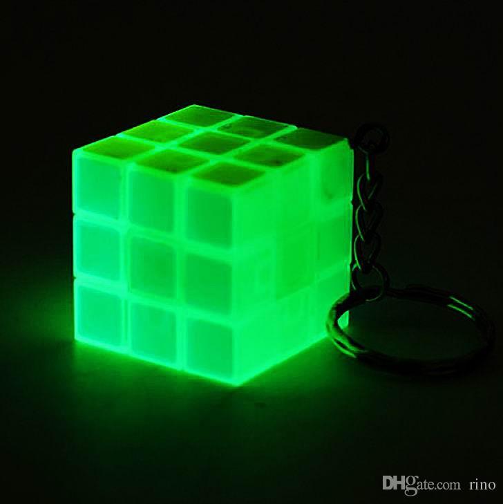 Мини-волшебный куб головоломка брелок люминесцентные 3x3x3cm волшебная игра Волшебный квадратный брелок обучение образование игра куб хорошие подарки