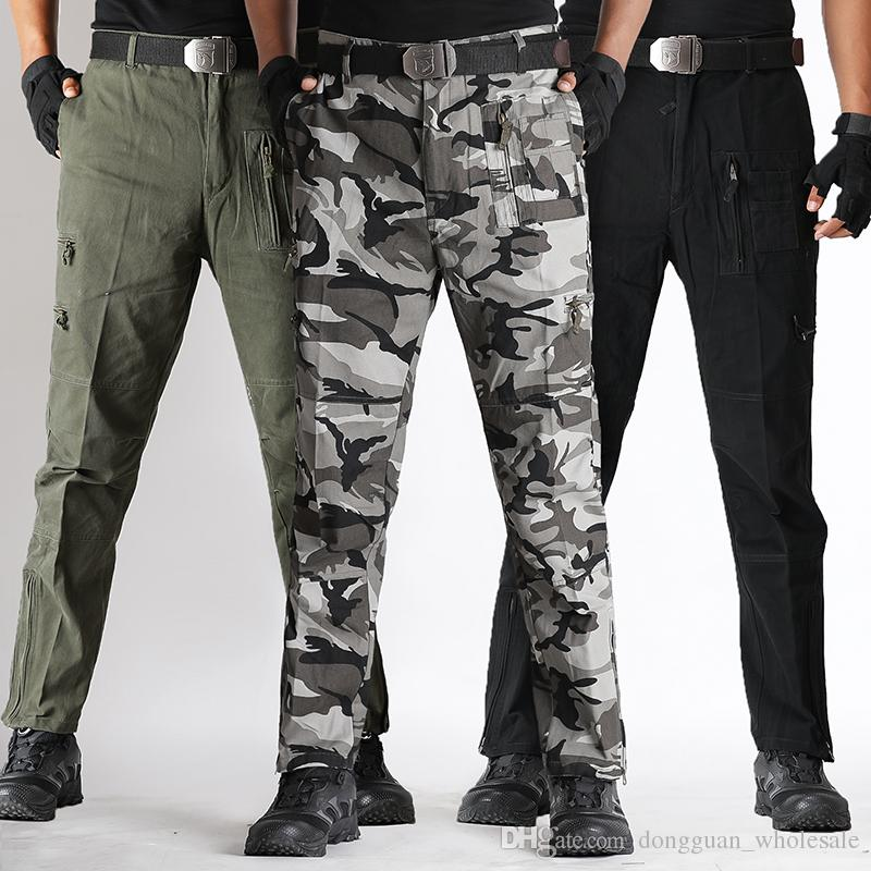 Nouveaux produits eb4da dfd99 2018 Military Snow Camouflage Pants Cotton Cargo Pants Men Army Tactico  Combat Trousers Tactical Working Clothes Pantalon Cargo Homme From ...