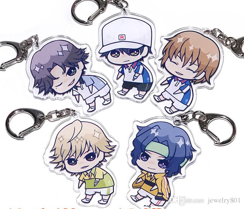 Anime Cosplay Prince de Tennis Ryoma Echizen Fuji Syusuke Seiichi Yukimura Porte-clés Porte-clés Halloween Cosplay Porte-clés Pendentif